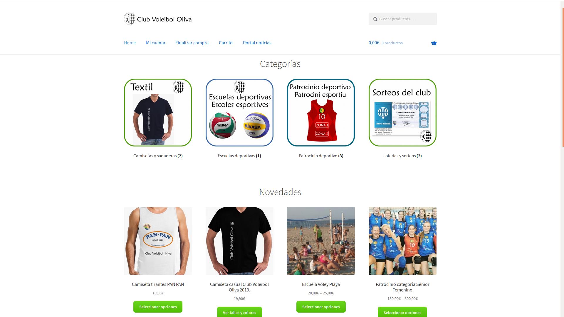Club Voleibol Oliva. Tienda online