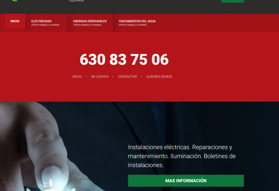 Gallego Electric – Sitio web