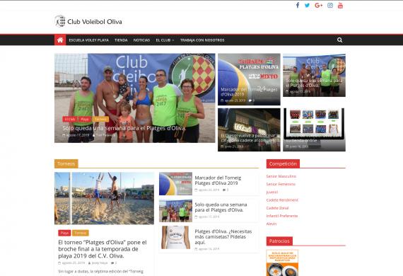 Club Voleibol Oliva. Portal de noticias.